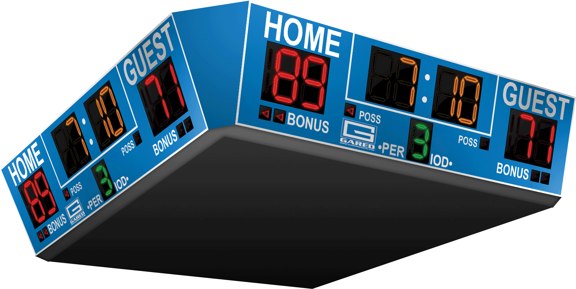 basketball scoreboard sided scoreboards arena four sports alphatec gs systems equipment performance